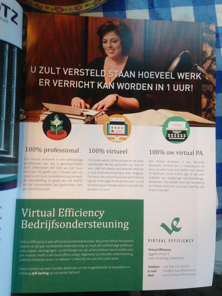 Advertentie Virtueel Assistent Projectenspecial JCI Nederland