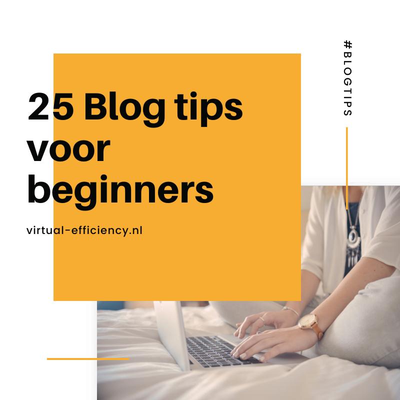 25 blog tips voor beginners