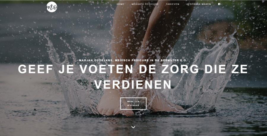 Marjan Oudejans Pedicure website