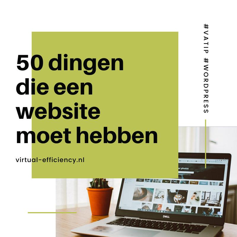 50 dingen die een website moet hebben tips