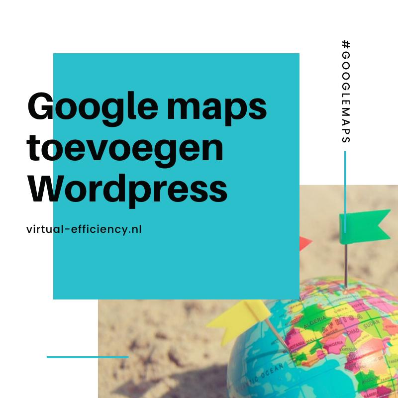 google maps toevoegen website zonder api