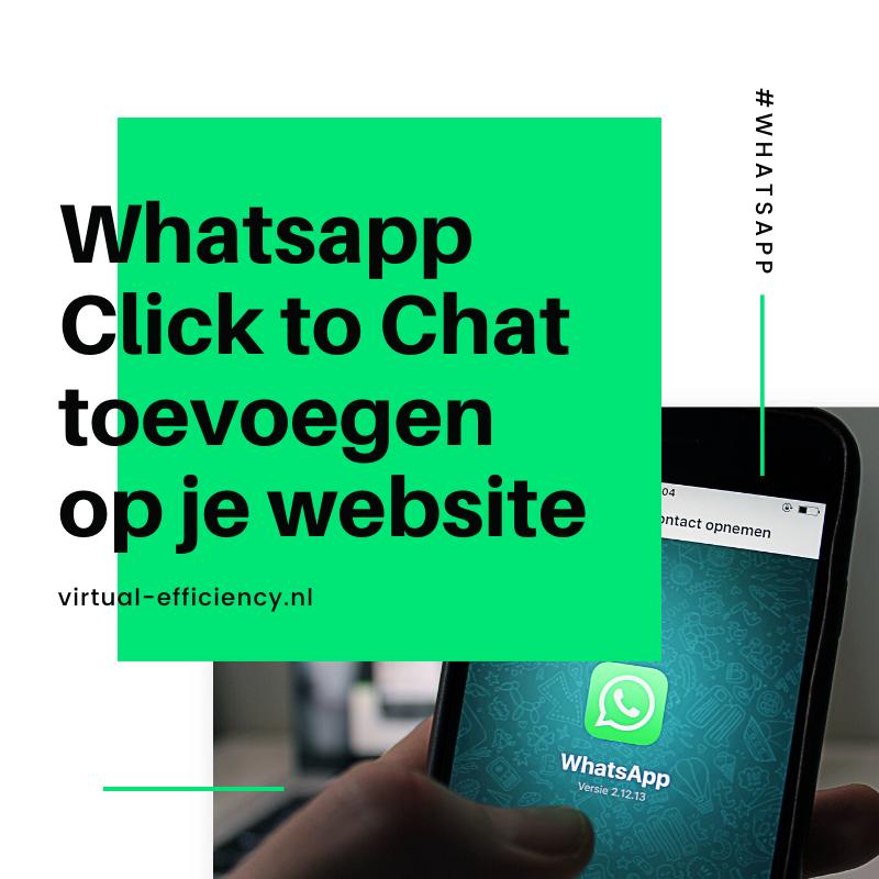 whatsapp link toevoegen op je website
